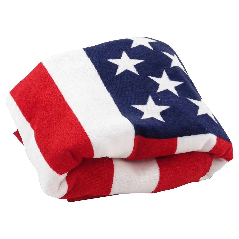 serviette drap de bain plage 100 coton drapeau americain usa 170 cm x 40 cm ebay. Black Bedroom Furniture Sets. Home Design Ideas