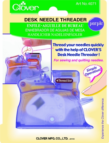 Best Buy! Clover Desk Needle Threader, Purple