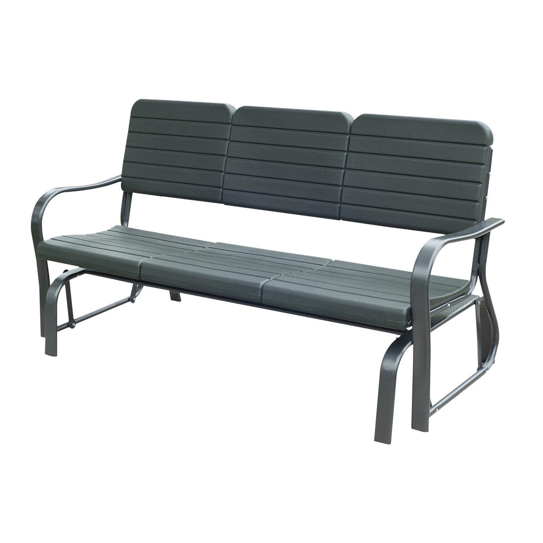 Schaukelbank Gartenbank Gartenschaukel Sitzbank Bank Parkbank Schaukel Metall Gartenmöbel 3-Sitzer