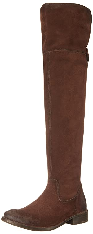 FRYE Women's Shirley Over The Knee Engineer Boot,  Brown, 7 M US
