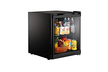 kitchoff black 50 litre aluminium glass door mini