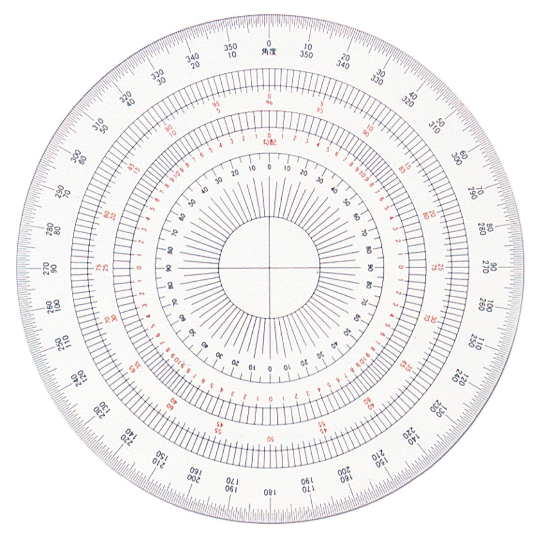 Full circle protractor template printable wiring diagram for Circular protractor template