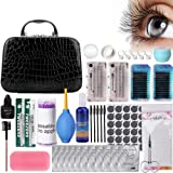 Pro 22pcs Eyelash Extension Kits, Beauty Star False Lashes Tool Curl Glue With Cosmetic Case For Makeup Practice Eye Lashes Graft, Lash Starter Kit, Eyelashes Extension Practice Set (Tamaño: Eyelash Extension Kits)