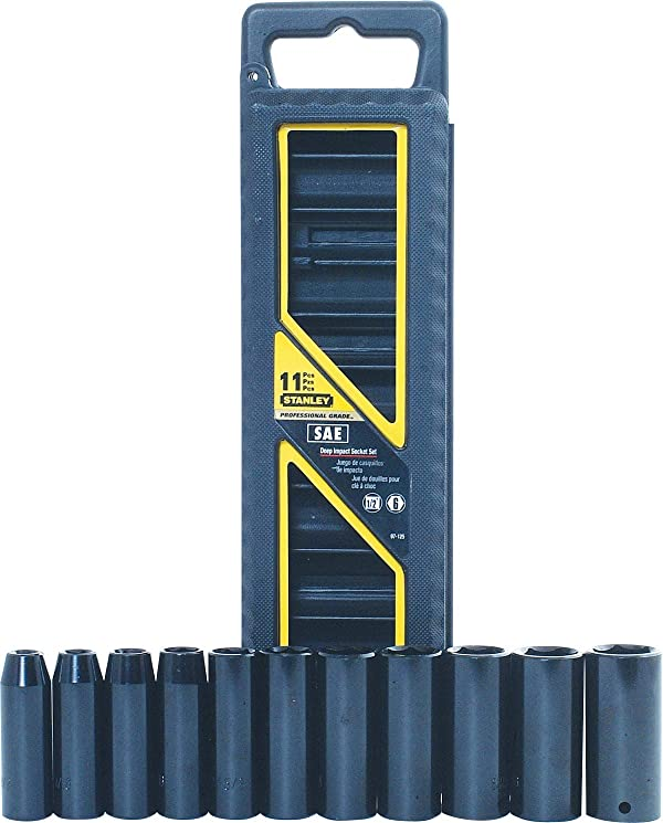 Stanley 97-125 11 Piece 1/2-Inch Drive SAE Deep Impact Socket Set
