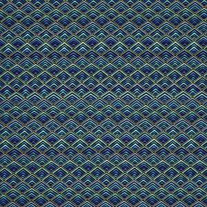 Timeless Treasures Plume Diamond Geo Black Gold Metallic, 44-inch (112cm) Wide Cotton Fabric Yardage
