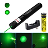 Good Mood Store High Power Green Pointer Pen 532nm Continuous Line 500 to 10000 meters range (Color: green)