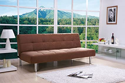Acme 05996 Darlington Adjustable Sofa, Coffee Microfiber Finish