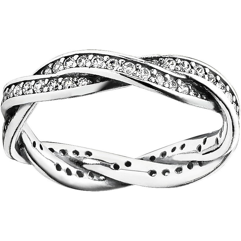 Pandora Damen-Ring 925 Sterling Silber Zirkonia weiß 190892CZ schenken