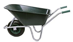 Schubkarre 100 ltr. 250kg, PVC, grün (Gartenkarre Bauschubkarre Baukarre)  BaumarktKundenbewertung und Beschreibung