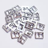 20pcs/lot inner width 4mm Diy metal bjd doll shoes and bag accessories mini ultra-small Japanese doll buckle single pin belt buckle (silver) (Color: silver)