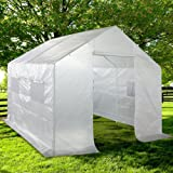 Quictent 2 Doors Portable Greenhouse Large Green Garden Hot House Grow Tent More Size (10'x9'x8') (Color: White, Tamaño: 10'x9'x8')