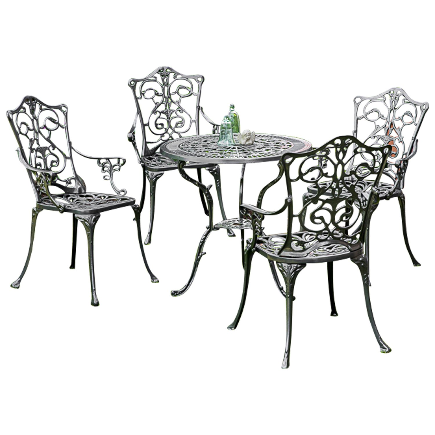 gartenset lugano 5 teilig aluguss graphit wetterfest g nstig. Black Bedroom Furniture Sets. Home Design Ideas