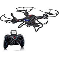 Holy Stone F181 RC Quadcopter Drone with HD Camera RTF 4 Channel 2.4GHz 6-Gyro Headless System (Black)