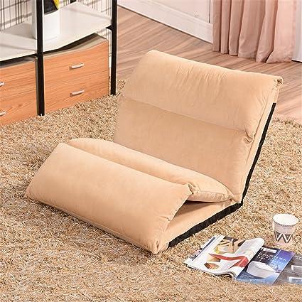 Lazy sofa Divano letto pieghevole in tessuto Tatami Creative Sedia pomeridiana Sospensioni pieghevoli Sedia pieghevole casual , coffee