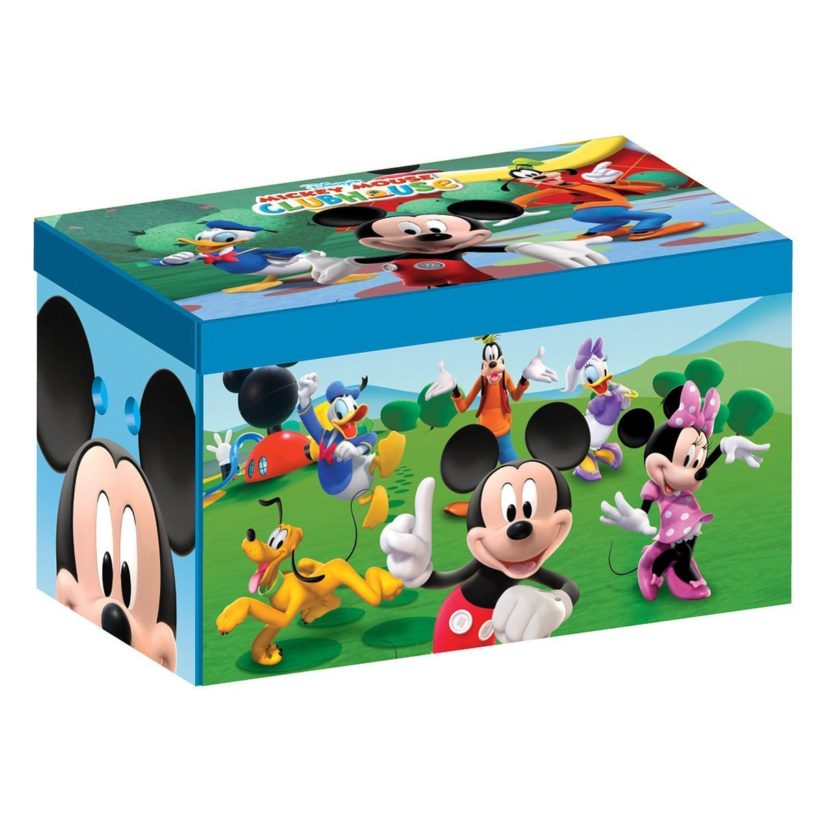 Disney Collapsible Storage Trunk Toy Box Organizer Chest: Disney Mickey Mouse Collapsible Fabric Toy Box Storage
