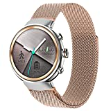 ZENWATCH 3 Band,Oitom Premium Woven Milanse Loop Stainless Steel Watch Band Strap for ASUS ZENWATCH 3 Smart Fitness Watch(Rose Gold Large 6.10