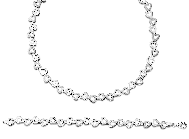 Orphelia Damen-Schmuckset Pure Collection 925 Sterlingsilber Kette 43 cm Armband 19 cm SET-036 jetzt kaufen