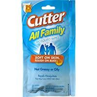 Cutter All Family 3 oz Mosquito Wipes