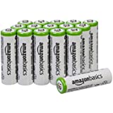 AmazonBasics AA Rechargeable Batteries (16-Pack) Pre-charged - Battery Packaging May Vary (Renewed) (Tamaño: AA 16 Pack)