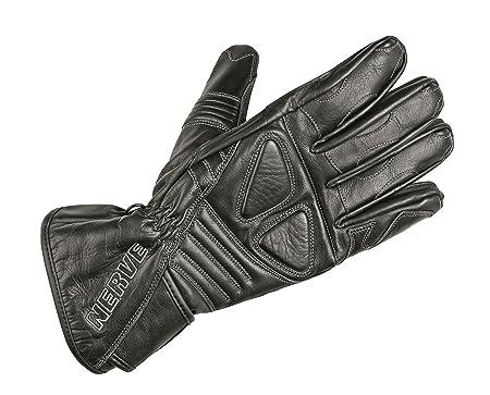 NERVE 1513140404_01 Dark Gants Moto en Cuir, Noir, Taille : XS