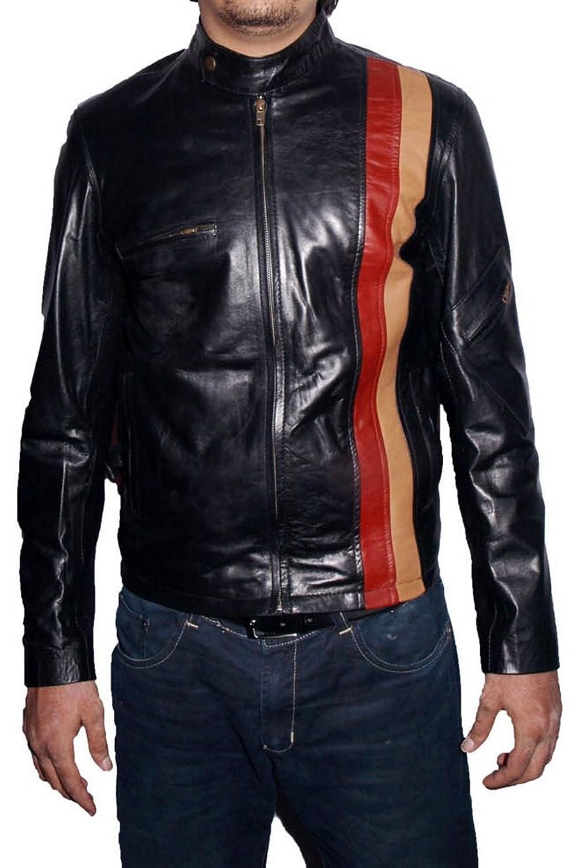 HLS Men's Xman Cyclop Sheep Black Leather Jacket günstig kaufen