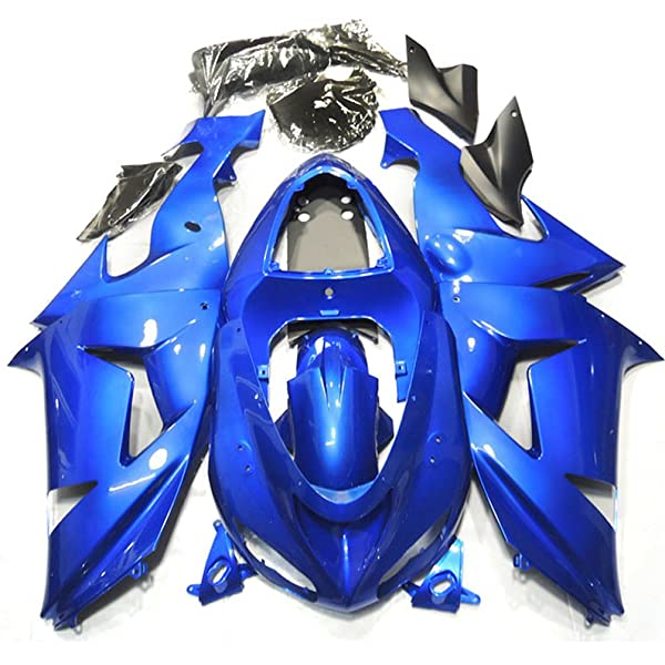 ZXMOTO K0605 ABS Plastic Motorcycle Bodywork Fairing Kit for Kawasaki Ninja 636 ZX-6R 2005-2006 Blue Pieces//kit: 21