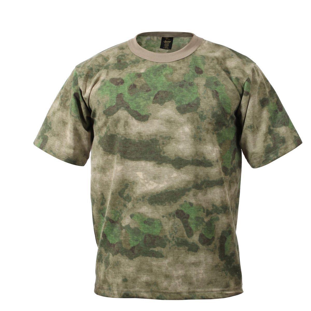 Rothco Men's Short Sleeve T-Shirt, A-TACS FG rothco vintage olive drab air corp t shirt