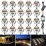 FVTLED Pack of 50 Warm White Low Voltage LED Deck lights kit F1.38