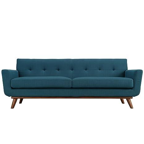 LexMod Engage Upholstered Sofa, Azure