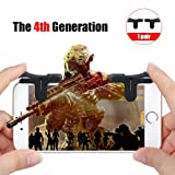 The 4th Generation Mobile Game Auxiliary Controller, SCOREL L1/R1 Sensitive Controller and Aim Buttons for PUBG/Knives Out/Rules of Survival, Compatible with Android and IOS smart phone(1 pair)