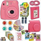 Fujifilm Instax Mini 9 Instant Camera Flamingo Pink + Fuji Instax Film Twin Pack (20PK) + Camera Case + Frames + Photo Album + 4 Color Filters and More Top Accessories Bundle (Color: Flamingo Pink)