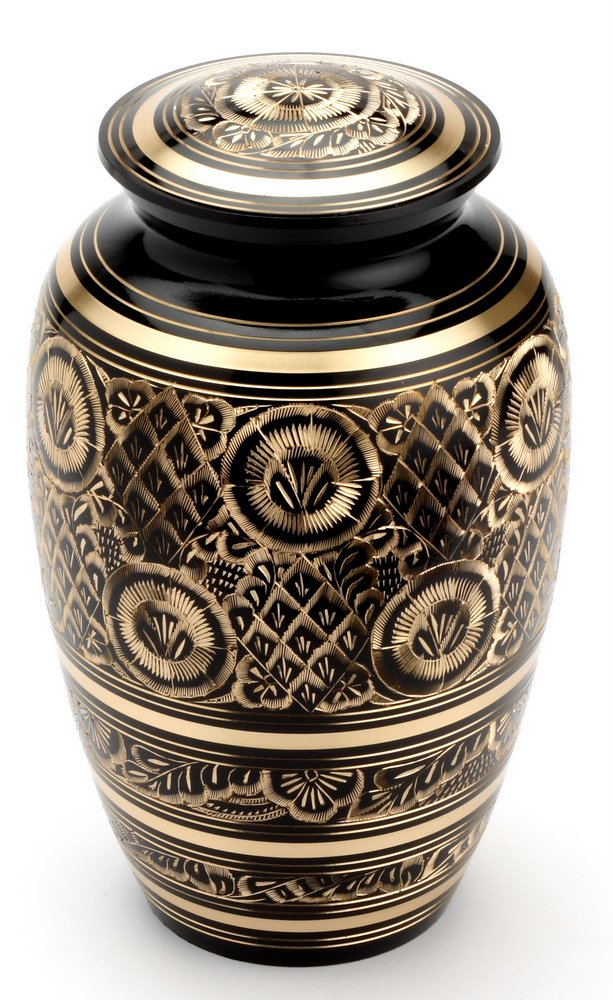 Urns UK 10 inch Brass Cremation Urn Adult Gloucester, Black       review and more information