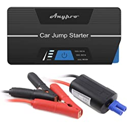 Anypro the Safest Car Jump Starter 600A Peak 15000mAh Car Jumper with Smart Clips