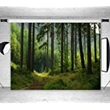 LB Jungle Forest Backdrops for Photography 9x6ft Fabric Green Enchanted Forest Background for Child Newborn Baby Shower Birthday Party Portraits Photo Booth Backdrop (Color: Green 884, Tamaño: 9'x 6')