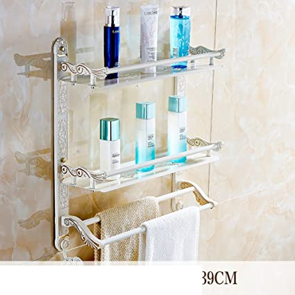 Stile europeo verniciato oro bianco quadrato rack/asciugamano rack pieghevole/Bagno rack di stoccaggio-D