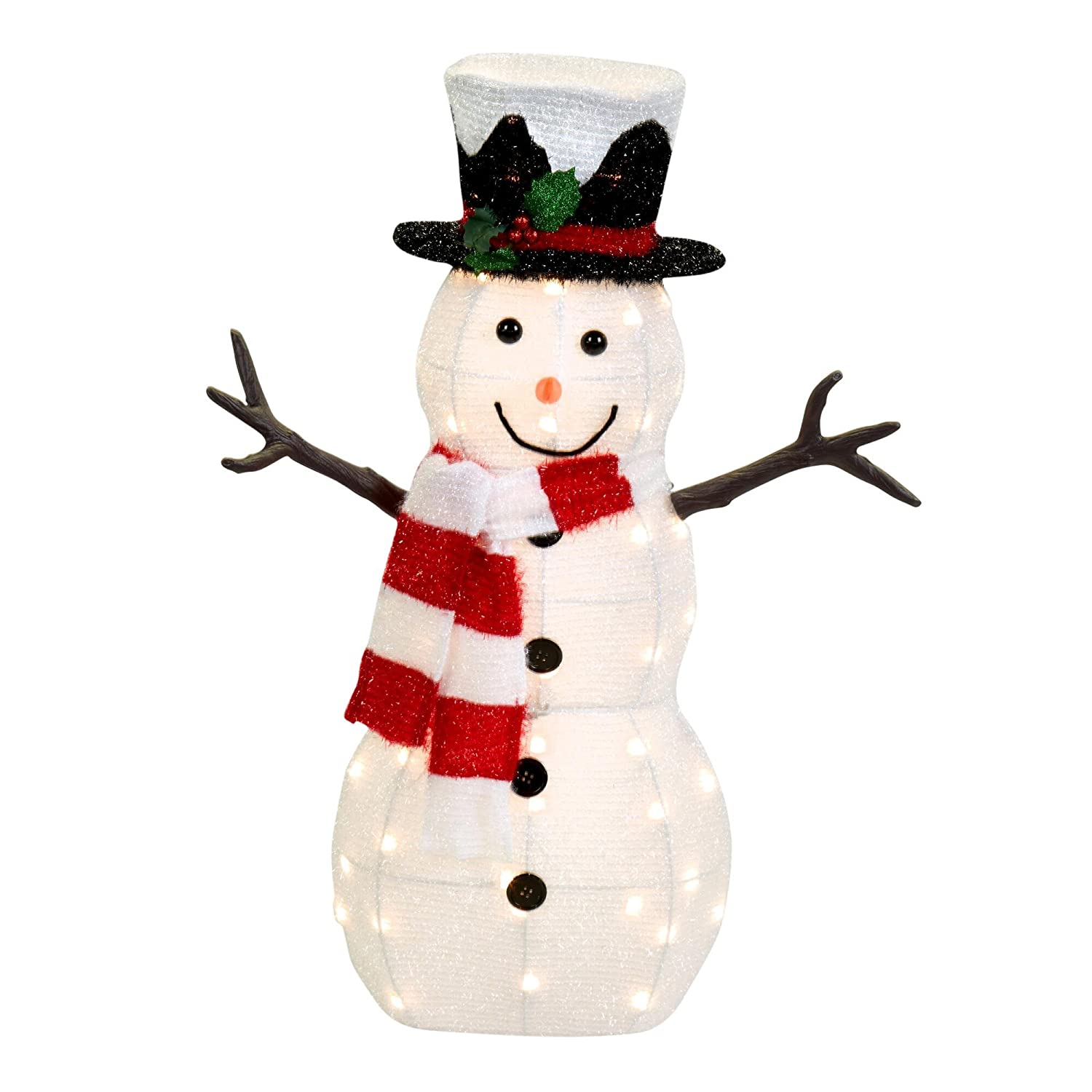 Snowman lighted yard displays christmas wikii for Lighted christmas yard decorations