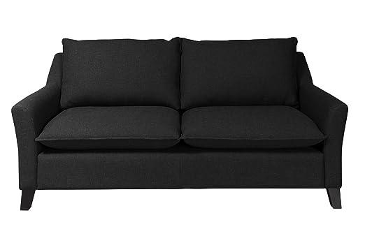 Newlevel 2,5-Sitzer-Sofa Cyprus, 192 x 94 x 93 cm, Feinstruktur schwarz
