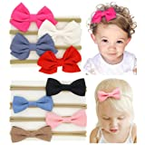 QandSweet Baby Girls Headbands and Forked Tail Bow Photography (Value Pack of 8)