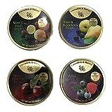 Cavendish & Harvey Hard Candy Drops 4 Flavors 5.3 ounce Tins
