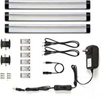 Lighting Ever 900LM Total of 12W 24W Under Cabinet Lighting 3-Panel Kit (Warm White)