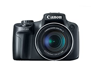Camara Digital Canon PowerShot SX50 HS 12.1 MP con gran angular Zoom 50x optico de imagen estabilizada