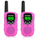 FAYOGOO Kids Walkie Talkies, 22-Channel FRS/GMRS Radio, 4-Mile Range Two Way Radios with Flashlight and LCD Screen, and Toys for 3-12 Year Old Boys and Girls (Cute Pink) (Color: Cute Pink)