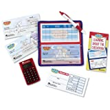 Learning Resources Pretend and Play Checkbook With Calculator (Color: Multi, Tamaño: No 102 Crow Quill Superfine Tip)