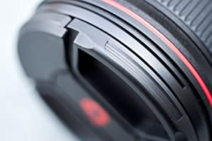 67mm Snap-On Center-Pinch Lens Cap, Extra Strong Springs, Camera Lens Cover, Made from 100% Recycled Plastic - Compatible with Nikon, Canon, Sony & Other DSLR Cameras (Tamaño: 67mm)