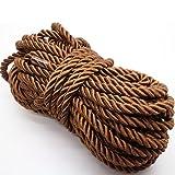 U Pick 10yds 5mm Decorative Twisted Satin Polyester Twine Cord Rope String Thread Shiny Cord Choker Thread (15:Coffee) (Color: 15:coffee, Tamaño: 5mm)