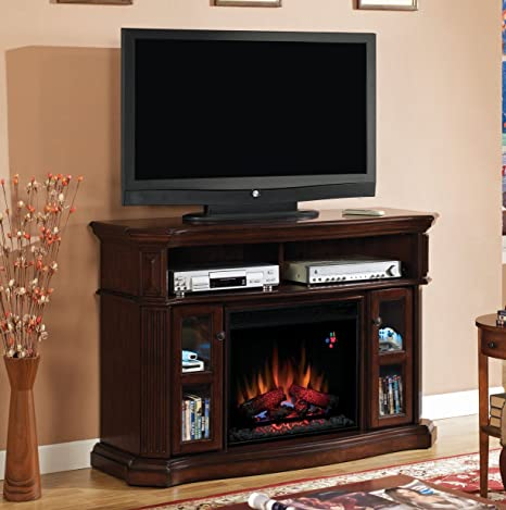 "ClassicFlame 23MM1297-C259 Aberdeen TV Stand for TVs up to 60"", Premium Cocoa  (Electric Fireplace Insert sold separately)"