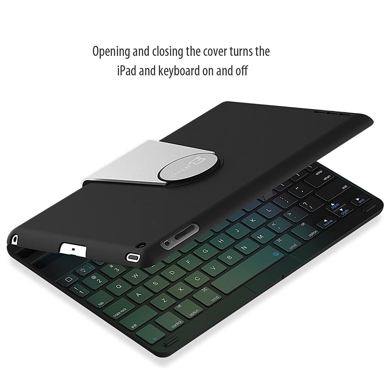 iPad Mini Keyboard, JETech® Wireless Bluetooth Keyboard Case for Apple iPad Mini 1/2/3 with 360 Degree Rotation and Multi-Angle Stand