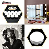 SOLMORE Mirror Lights LED Vanity Mirror Lights Kit Hollywood Style Flexible 12 Dimmable LED Light Bulbs Lighting Fixture Strip for Makeup Table Set in Dressing Room with Dimmer and USB Power Supply (Color: Vanity Lights 2)
