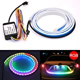 KaTur 120cm Tail Light Led Strip Car Styling RGB Dynamic Streamer Waterproof Tailgate Led Strip Light Bar Brake/Turn Signal/Running Warning Rear Trunk Light LED Lamp Strip