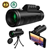 Monocular Telescope High Power, 12x50 Dual Focus Monoculars for Adults Compact Waterproof Anti fog for Watching Bird Hunting Camping Traveling Wildlife Scenery with Smartphone Adapter (Color: 12X50_2)
